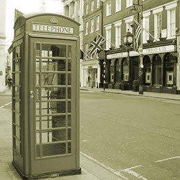 Bond Street and phone booth by Monica Arellano-Ongpin, on Flickr